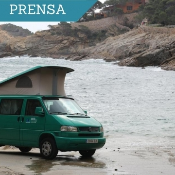 Traveling along Costa Brava with a van